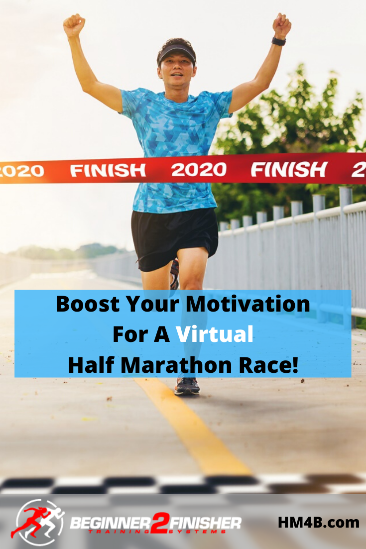 17 Tips to Help Boost Your Motivation For A Virtual Half Marathon Race! - pin 2