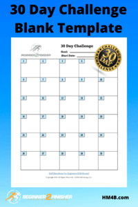 30 Day Challenge - Blank Template