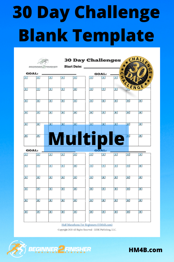 30 Day Challenge - Blank Template (Multi)