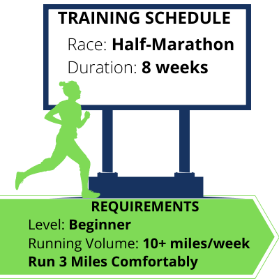Half Marathon Training Schedule 8 week beginner