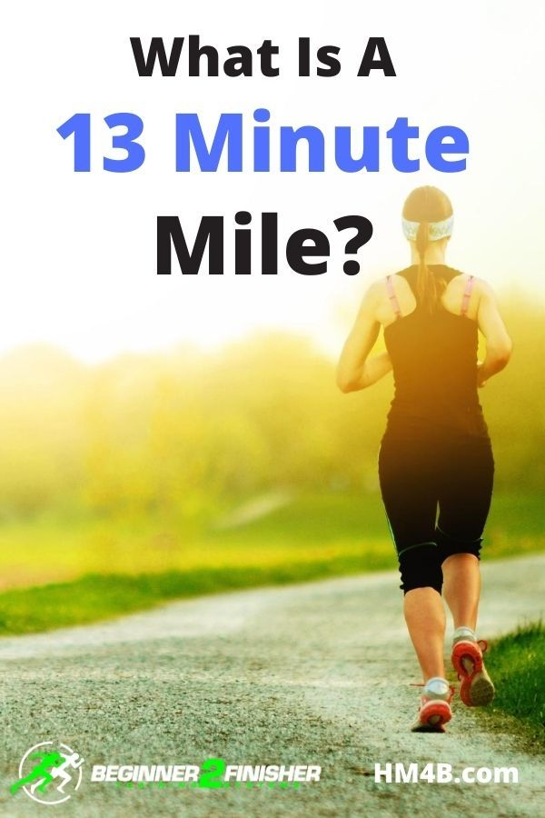 What is a 13 minute Mile - runner - sunset