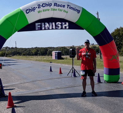 15th Half Marathon Race Finish