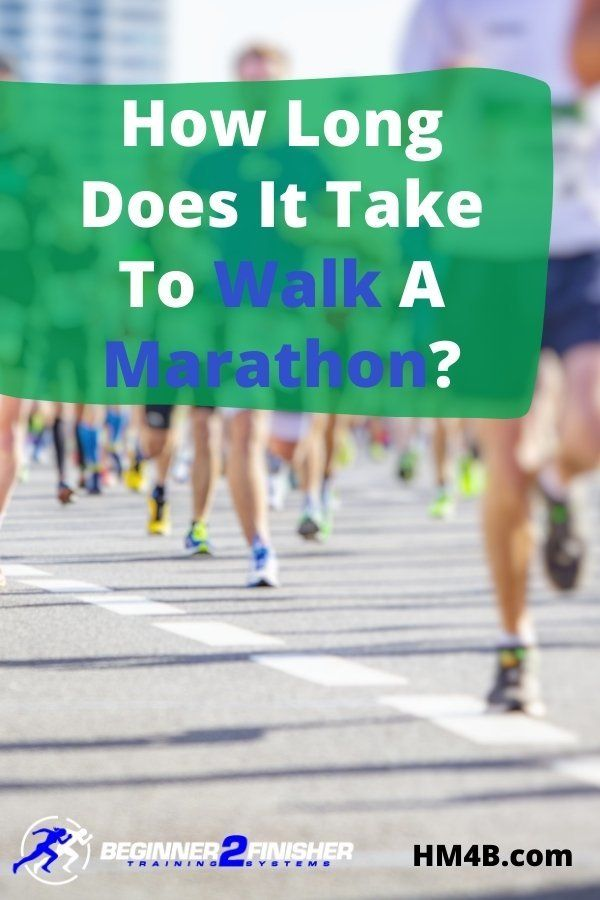 How Long Does It Take To Walk A Marathon