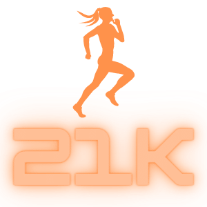 How Many Steps Are in a 21K - Half Marthon 13.1 miles
