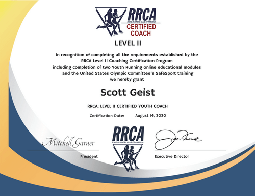 RRCA Certified Running Coach - Level 2 (Youth - Kids)