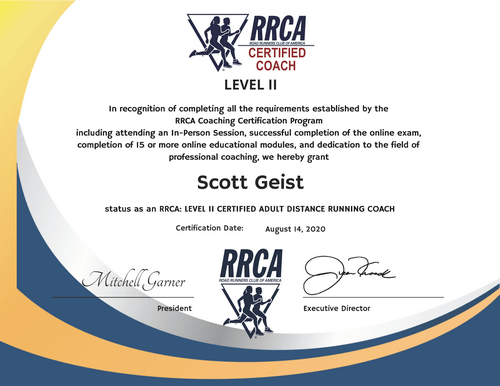 RRCA Certified Running Coach - Level 2
