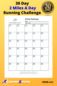 30 Day 2 Miles A Day Running Challenge