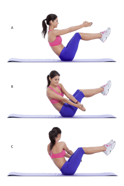 Best Core Exercises For Runners - Russian Twist