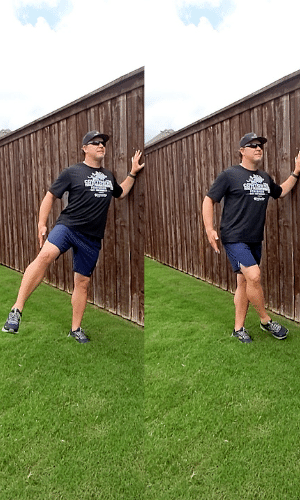 Coach Scott Performing Dynamic Stretches - Lateral Leg Swings